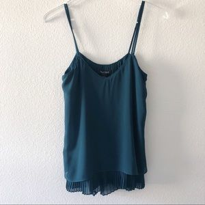 White House Black market emerald green top